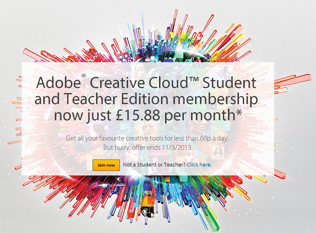 Adobe Creative Cloud Special Offer - Only £15.88 per month! - Blog ...