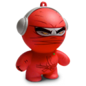 Headphonies Red Ninja Speaker