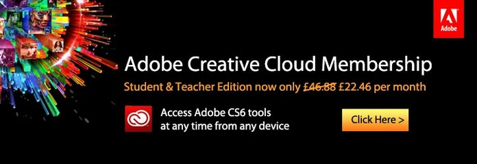 Adobe Creative Cloud £22.46 (down from £46.88)