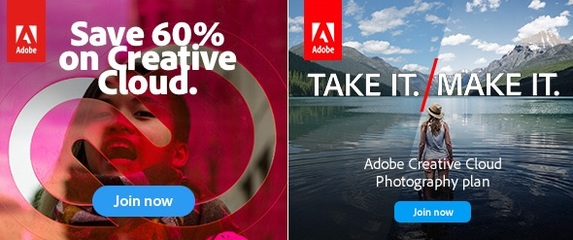 Adobe Creative Cloud Students and Teachers up to 60% off